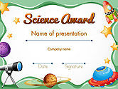 Education & Training: Science Award Certificate PowerPoint Template #14193