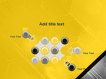 Abstract Technology Background with Arrows and Hexagonal Shapes PowerPoint Template Slide 10
