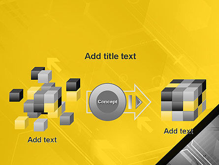 Abstract Technology Background with Arrows and Hexagonal Shapes PowerPoint Template Slide 17
