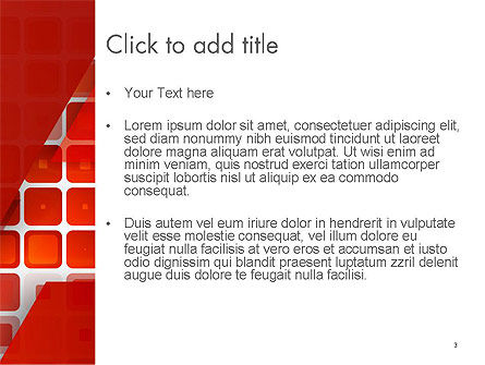 Red Tiled Squares Abstract PowerPoint Template, Slide 3, 14196, Abstract/Textures — PoweredTemplate.com