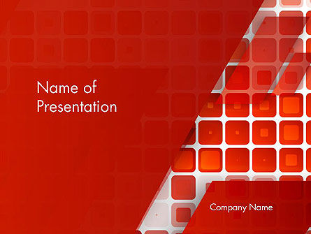 Red Tiled Squares Abstract PowerPoint Template