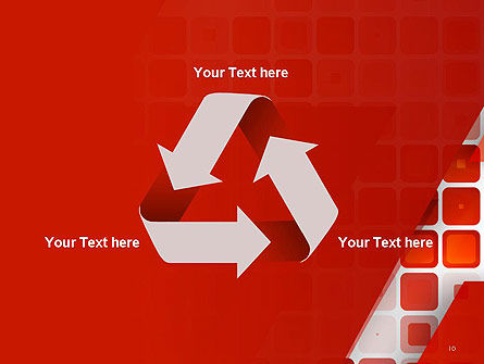 Red Tiled Squares Abstract PowerPoint Template Slide 10