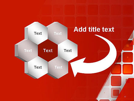 Red Tiled Squares Abstract PowerPoint Template Slide 11