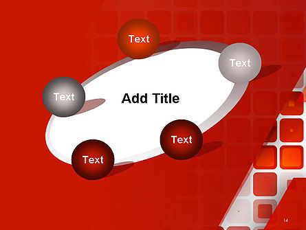 Red Tiled Squares Abstract PowerPoint Template Slide 14