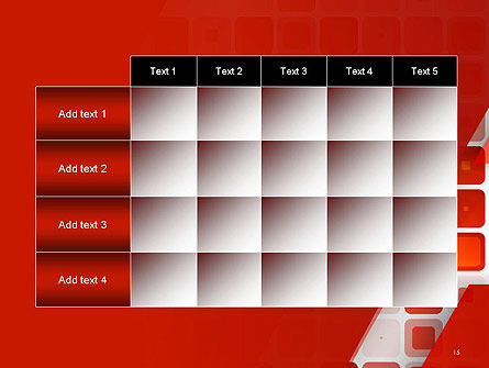 Red Tiled Squares Abstract PowerPoint Template Slide 15