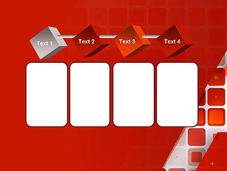 Red Tiled Squares Abstract PowerPoint Template Slide 18
