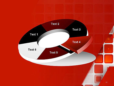 Red Tiled Squares Abstract PowerPoint Template Slide 19