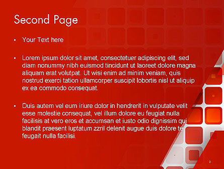 Red Tiled Squares Abstract PowerPoint Template Slide 2