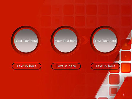 Red Tiled Squares Abstract PowerPoint Template Slide 5