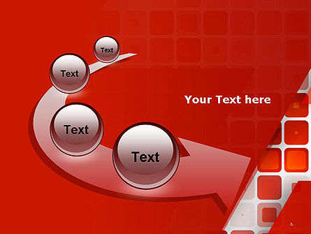 Red Tiled Squares Abstract PowerPoint Template Slide 6