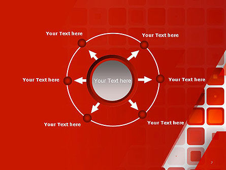 Red Tiled Squares Abstract PowerPoint Template Slide 7