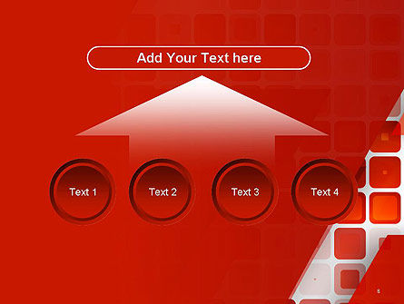 Red Tiled Squares Abstract PowerPoint Template Slide 8