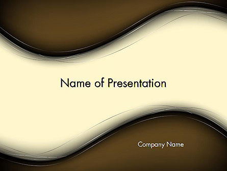 Abstract/Textures: Blurry Brown Waves Abstract PowerPoint Template #14197