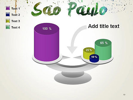 Sao Paulo Skyline in Watercolor Splatters PowerPoint Template Slide 10