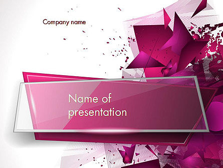 Abstract Modern Polygonal Background PowerPoint Template, 14202, Abstract/Textures — PoweredTemplate.com