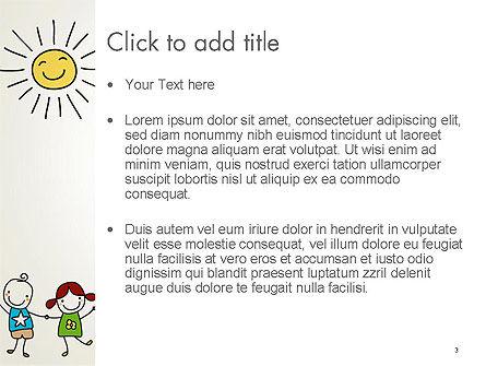Childish Drawings PowerPoint Template, Slide 3, 14203, Education & Training — PoweredTemplate.com