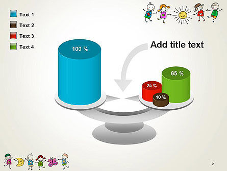 Childish Drawings PowerPoint Template Slide 10