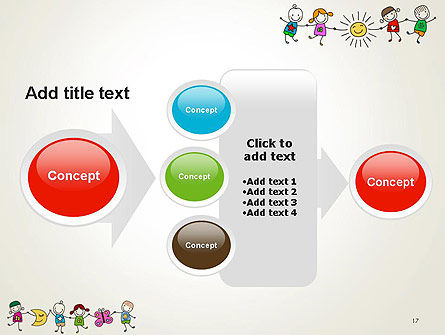Childish Drawings PowerPoint Template Slide 17