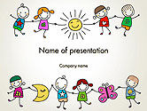 Education & Training: Plantilla de PowerPoint - dibujos infantiles #14203