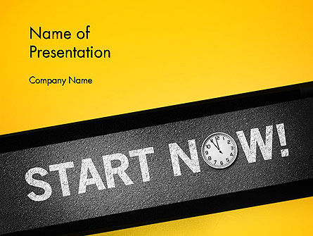 Business Concepts: Start Now PowerPoint Template #14204