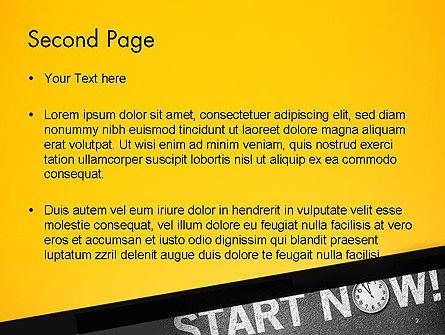 Start Now PowerPoint Template, Slide 2, 14204, Business Concepts — PoweredTemplate.com