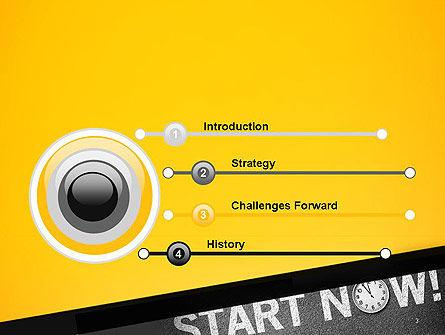 Start Now PowerPoint Template, Slide 3, 14204, Business Concepts — PoweredTemplate.com