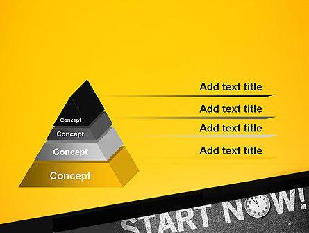 Start Now PowerPoint Template, Slide 4, 14204, Business Concepts — PoweredTemplate.com