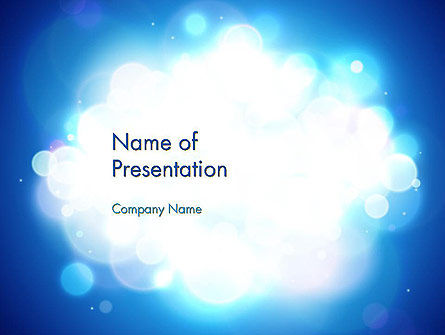 Sky Light Spots Abstract PowerPoint Template