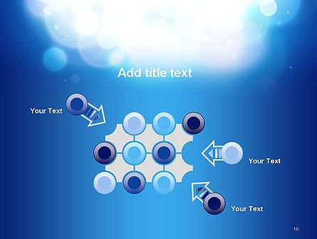 Sky Light Spots Abstract PowerPoint Template Slide 10