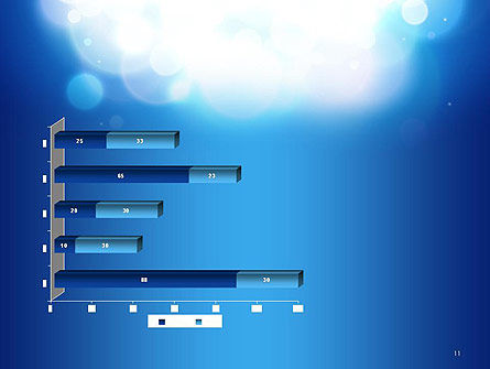 Sky Light Spots Abstract PowerPoint Template Slide 11