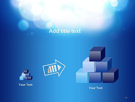Sky Light Spots Abstract PowerPoint Template Slide 13