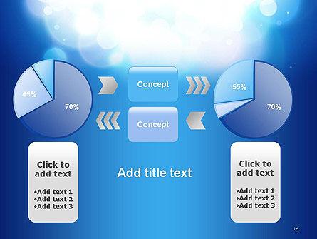Sky Light Spots Abstract PowerPoint Template Slide 16