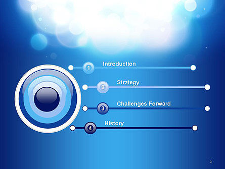Sky Light Spots Abstract PowerPoint Template Slide 3