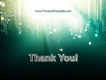 Digital Circuit Board Abstract PowerPoint Template Slide 20