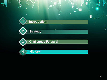 Digital Circuit Board Abstract PowerPoint Template Slide 3