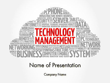 Technology Management Word Cloud PowerPoint Template