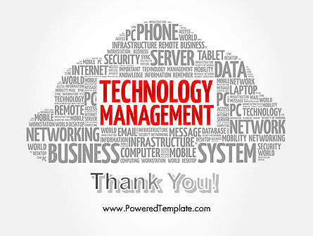 Technology Management Word Cloud PowerPoint Template Slide 20