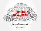 Careers/Industry: Technology Management Word Cloud PowerPoint Template #14207