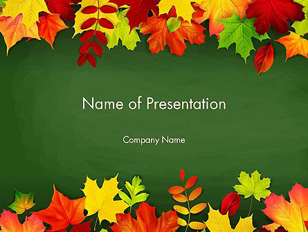 Falling leaves border frame powerpoint template backgrounds falling leaves border frame powerpoint template 14208 nature environment poweredtemplate toneelgroepblik Gallery