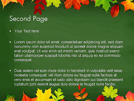 Falling Leaves Border Frame PowerPoint Template Slide 2