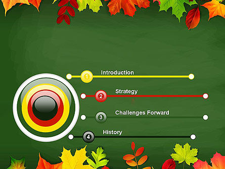Falling Leaves Border Frame PowerPoint Template Slide 3