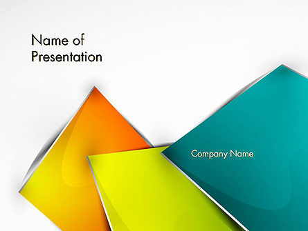 Abstract Bright Layers PowerPoint Template