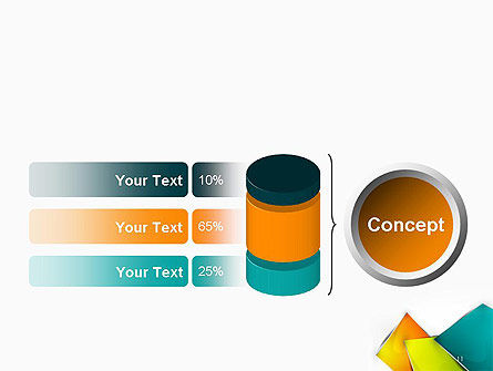 Abstract Bright Layers PowerPoint Template Slide 11