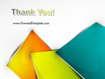 Abstract Bright Layers PowerPoint Template Slide 20