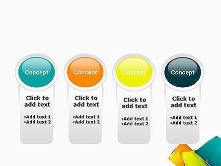 Abstract Bright Layers PowerPoint Template Slide 5