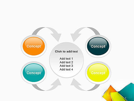 Abstract Bright Layers PowerPoint Template Slide 6