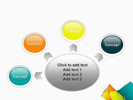 Abstract Bright Layers PowerPoint Template Slide 7