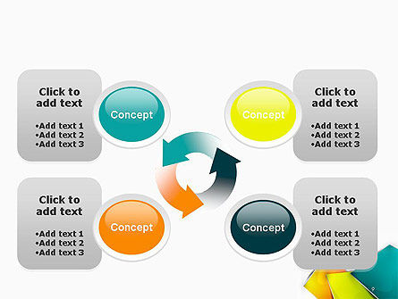 Abstract Bright Layers PowerPoint Template Slide 9