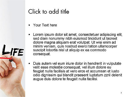 Hand Writing Clear Your Life with Marker PowerPoint Template, Slide 3, 14211, Business Concepts — PoweredTemplate.com