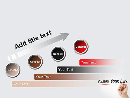 Hand Writing Clear Your Life with Marker PowerPoint Template Slide 9